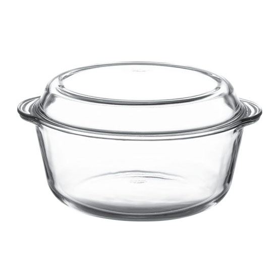 Borcam Round Casserole With Lid 3lt Bar And Restaurant